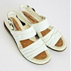Flat Sandals Beautiful Ivory White Hush Puppies